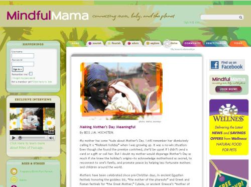 Women for Women International featured on Mindful mama Blog