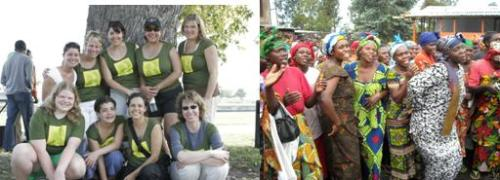 Past participants and women in our program in Congo celebrate their new opportunities.